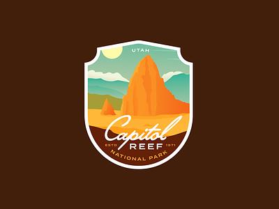 Capitol Reef National Park sticker patch nature landscape desert outdoor badge national parks national park utah capitol reef