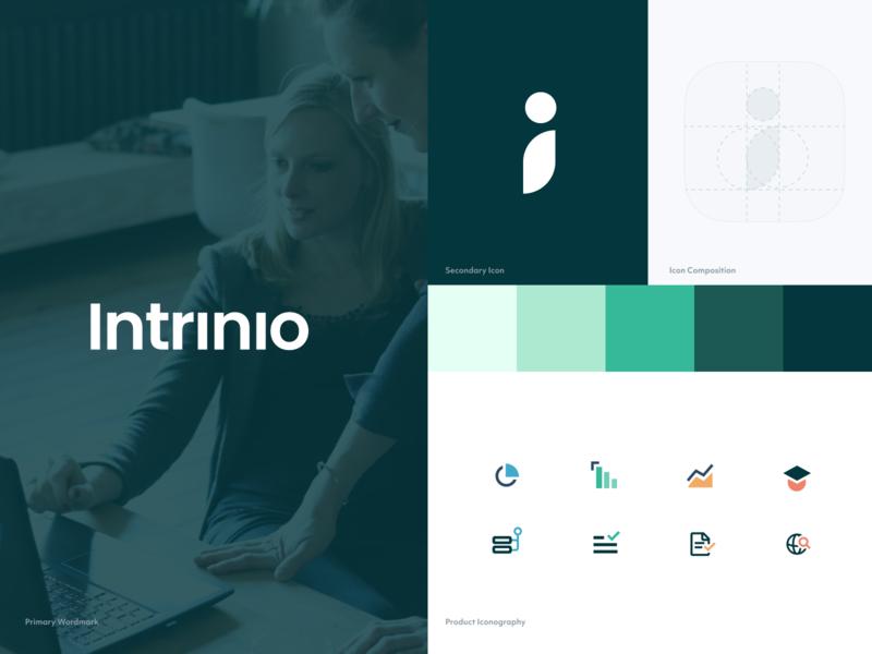 Intrinio Rebrand refresh finance fintech logo app design rebrand branding app