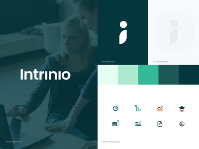 Intrinio Rebrand refresh finance fintech logo app design rebrand branding app