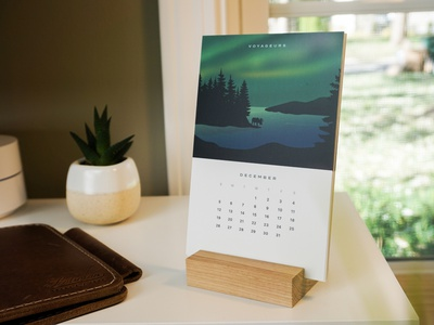 2021 National Park Desk Calendar christmas holidays outdoors nature wooden stand vintage desk national parks