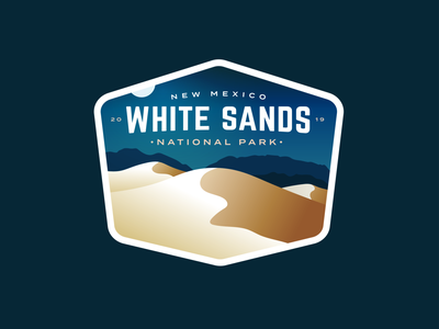 White Sands National Park Badge moon outdoors badge dunes nationalparks national park sand sand dunes white sands