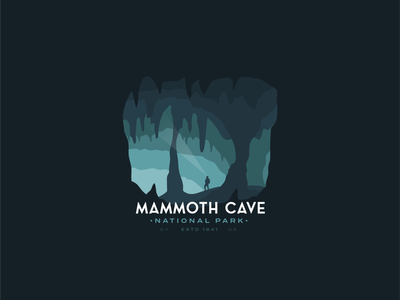 Mammoth Cave National Park Badge series vintage outdoors sticker badge depth caving cave national park mammoth mammoth cave