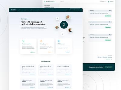 Intrinio Docs support help desk profile product product design uxui web design help documentation docs webflow website