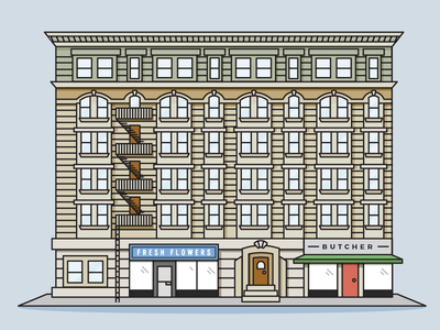 Brownstone of NYC (Colored)