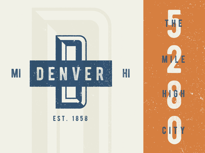 Denver 5280 high mile vintage logo city logo city colorado mile high city 5280 denver