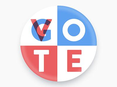 Go Vote trump donald clinton hillary pin badge go vote election 2016 vote