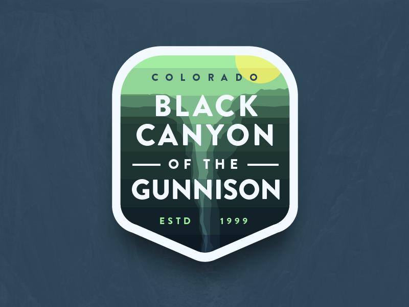 Black Canyon National Park (Redux) green brandon icon badge gradient canyon national park gunnison