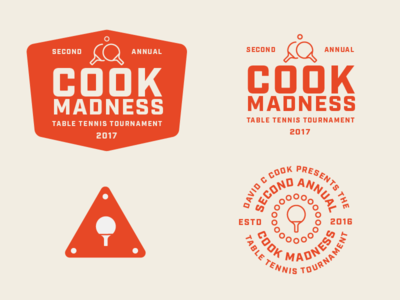 2nd Annual Cook Madness Assets paddle vintage badge tournament table tennis ping pong