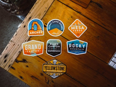Sticker Collection sand dune yellowstone grand canyon rocky mountain swag national park sticker