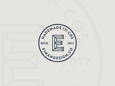 Eiman Design Co. Stamp mark stamped logo e designer freelance brand stamp