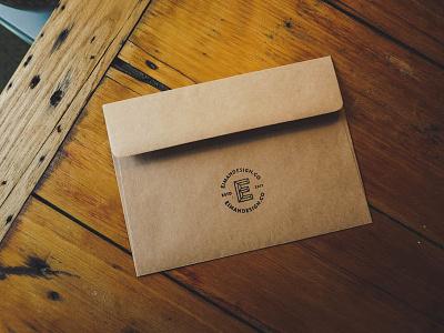 Eiman Design Co Stamped brand freelance logo branding stamp packaging envelope