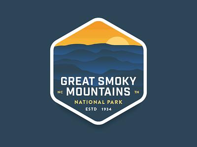 Great Smoky Mountains sunset blend fade smoke sun gradient mountains national park great smoky mountains