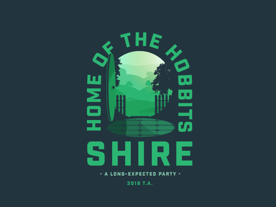 Shire green door shadow illustration bag end hobbit hole hobbitton hobbits shire lord of the rings