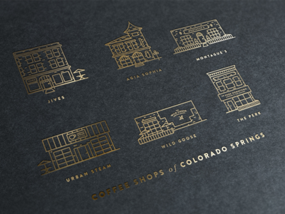 Coffee Shops of COS - Gold Foil