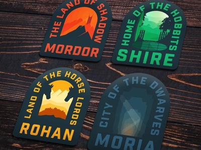Lotr Stickers merch hobbit movies branding stickers lord of the rings