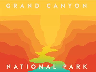 Grand Canyon nature layers river gradient national park arizona