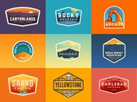 2017 National Park Badges
