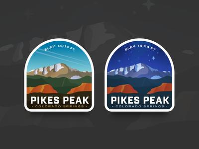 Pikes Peak Badge Comparison