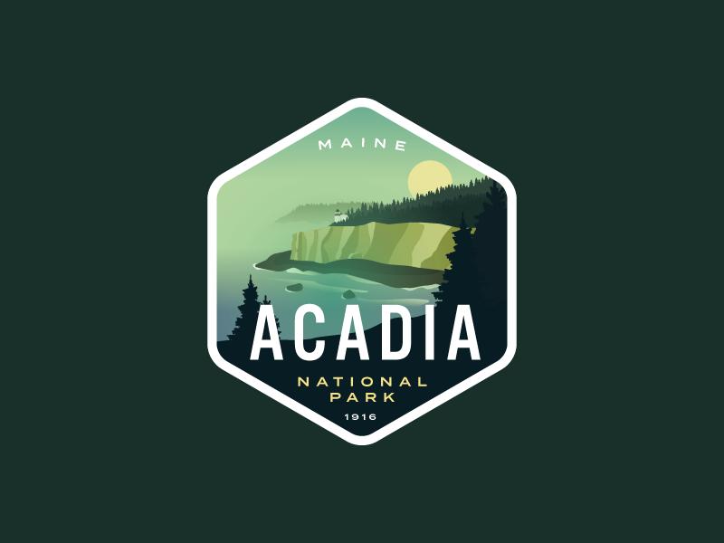 Acadia National Park Redux by Alex Eiman on Dribbble