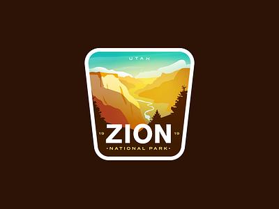 Zion National Park icon badgedesign desert valley badge logo utah national park badge zion