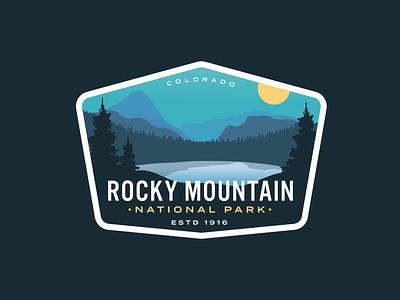 Rocky Mountain Redux 3x rocky mountains logo vintage badge nature rocky mountains lake colorado national park rocky mountain