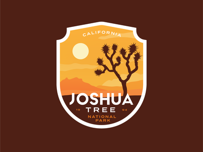 Joshua Tree Badge vintage nature park tree logo california desert national park badge joshua tree