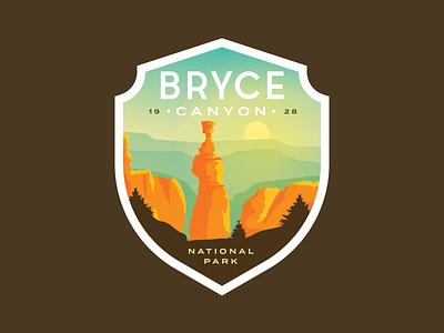 Bryce Canyon National Park red rocks rocks sunrise vintage sticker badge canyon utah national park bryce canyon