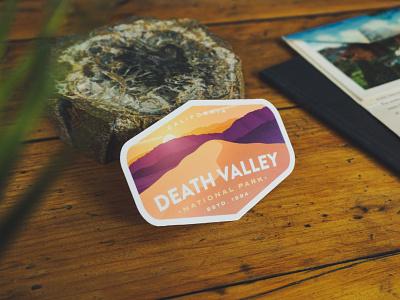 Death Valley Sticker sand dunes desert outdoor badge outdoor nature vinyl
