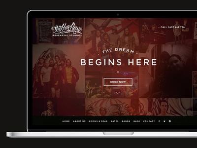 The Hen House Studios Website design photoshop dark studio music one-page responsive website
