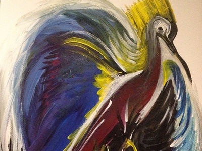 Painting - The bird colour bird painitng