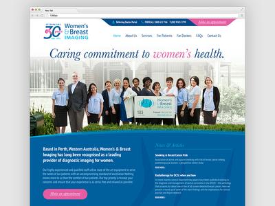 WBI Website Homepage Design design photoshop clean corporate pink blue responsive website women medical health