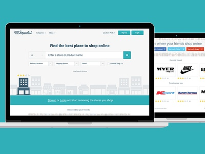 Shopulist Website website design clean minimal blue sketch online shop