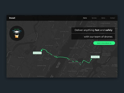 Drone delivery tracking system