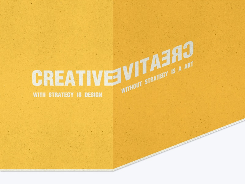 Creative typography strategy design art yellow vector illustration creative color
