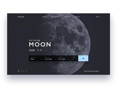 Spaced challenge uiux moon page landing webdesign website spacedchallenge spaced