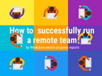 Infographic about remote teams