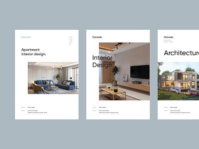 Comodo Branding grid minimal contemporary design architecture catalogue interior poster art directing branding