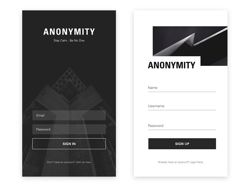 login register page practice by levy zhao dribbble dribbble