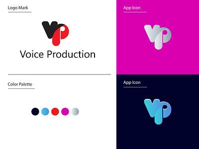 V + P logo mark | vp logo design illustration app icon branding design graphic design logo