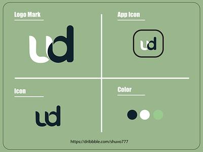 UD logo mark | UD logo concept ud logo design ud logo logo typo logo type logo concept logo mark logo design logos illustration app icon design branding logo graphic design