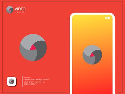 Video Player app icon design | Video player logo design ui branding ux illustration vector graphic design design logo icon app