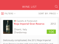 Wine list   expanded