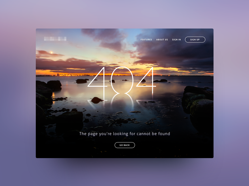 Photo-based 404 Page combined design ux ui image page missing error 404 web photo