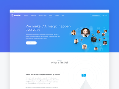 Testlio About Page testlio sketchapp landing web blue illustrations estonia estonianmafia website ui ux testing
