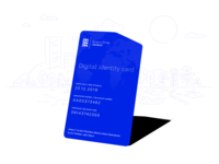 Estonia e-residency ID card concept