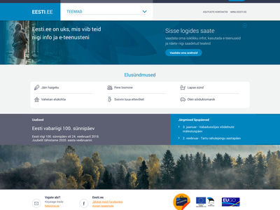 Eesti.ee Reimagined - Web eesti blue design estonianmafia estonia landing web sketchapp ux ui