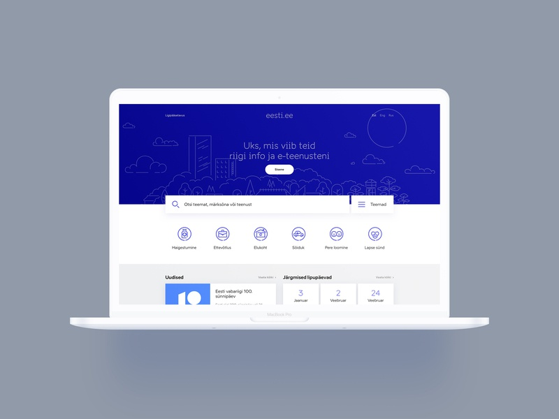 Eesti.ee Reimagined - Web eesti blue design estonianmafia estonia landing web sketchapp ux ui