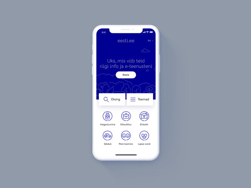 Eesti.ee Reimagined - Mobile design blue sketchapp eesti.ee landing estonianmafia estonia mobile web ux ui
