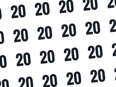 Twenty Twenty estonia animation 2020 new year grid after effects simple clean minimal type typography motion graphics