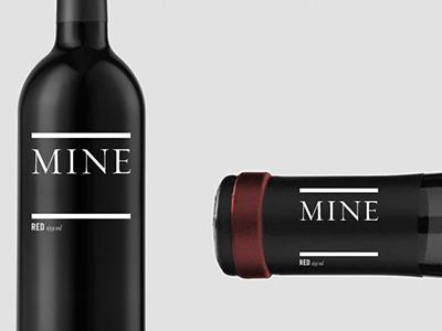 The Wine Mine photography graphic branding